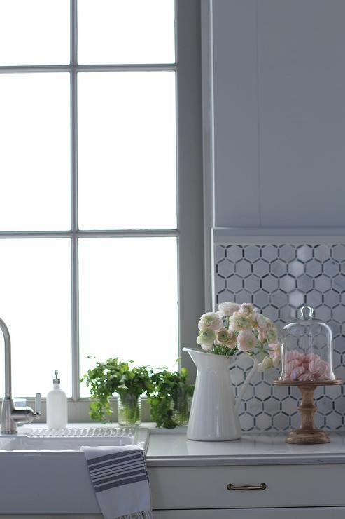 white marble hexagon kitchen backsplash transitional elongated hexagon tile backsplash for my kitchen juxtapost