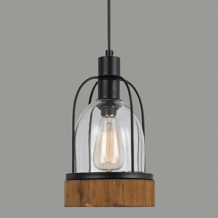 exposed ceiling lighting basement industrial black painted black wood and glass industrialstyle black pendant lamp
