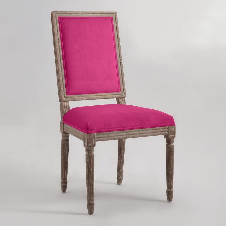 Fuchsia Square-Back Paige Dining Chairs