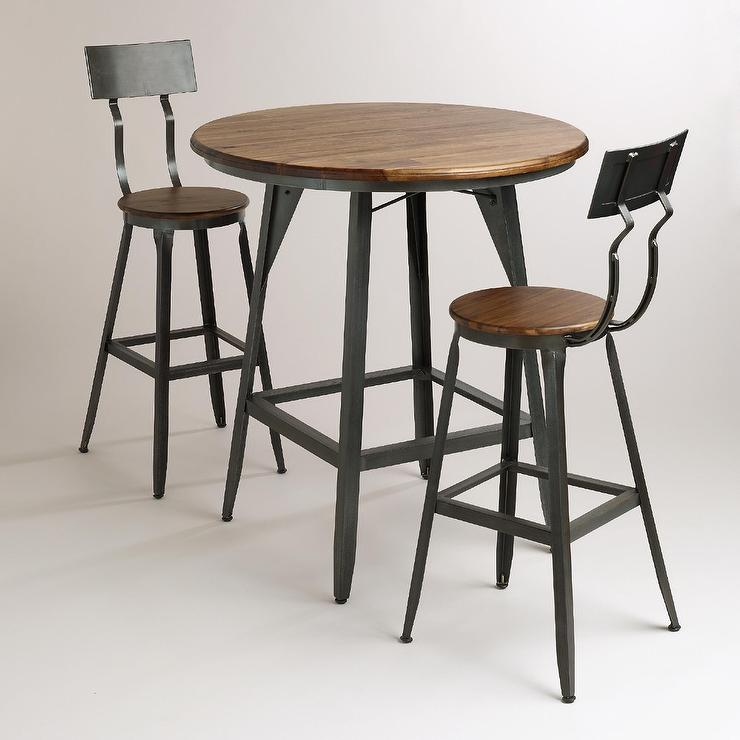 Hudson Black And Brown Pub Table Collection