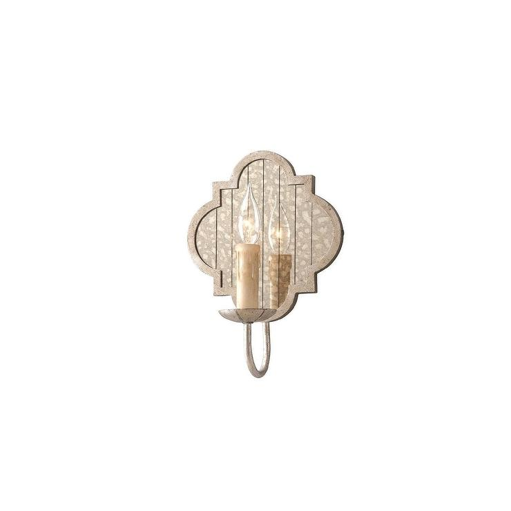 Troy Lighting Gramercy 1-Light Silver Wall Sconce
