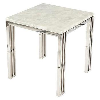 Gallery Stainless Steel Silver End Table
