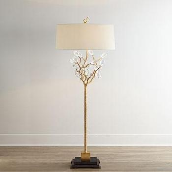 Black and beige wire base floor lamp budding crystal and gold floor lamp greentooth Images