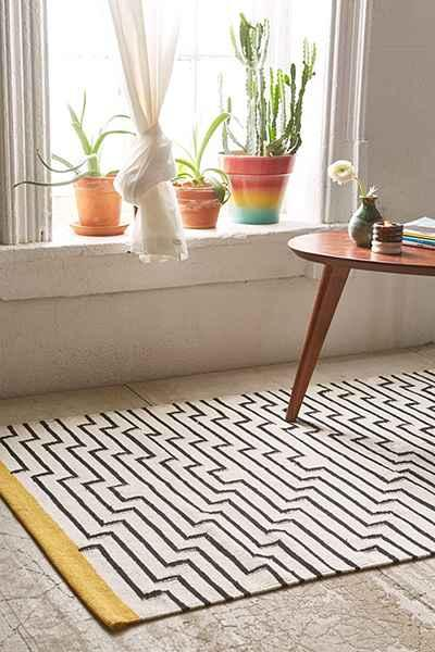 Yellow And Black Rug Home Decor
