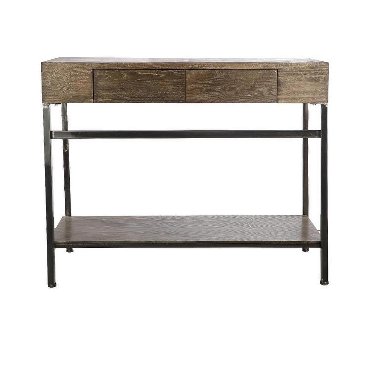 rustic storage console west elm. Black Bedroom Furniture Sets. Home Design Ideas