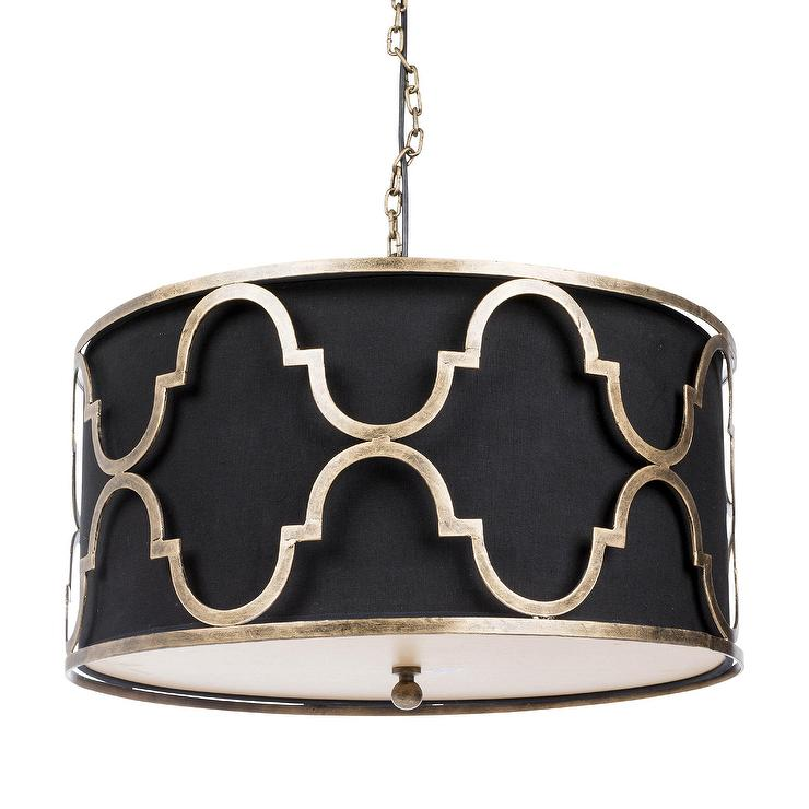 Aurelle Home Era Gold And Black Pendant Lamp