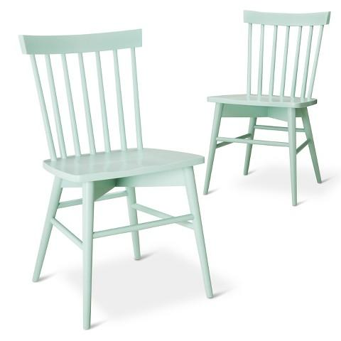 Octagon Dining Chair with Mint Lattice Fabric I ...