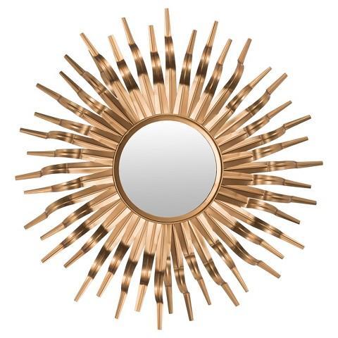 Safavieh Gold Sunburst Wall Mirror