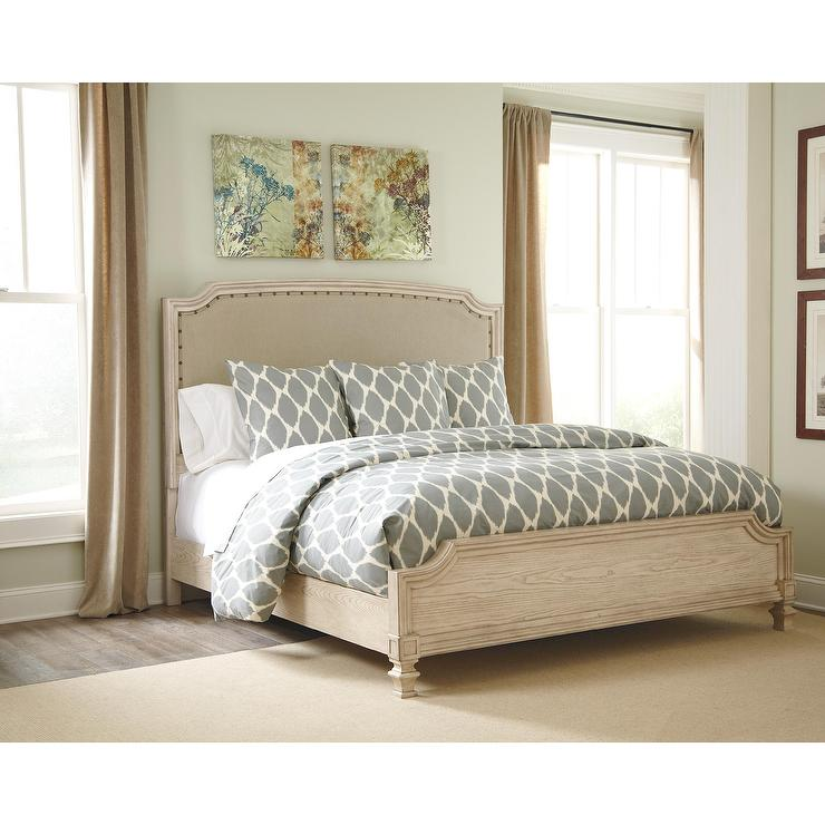 gray upholstered headboard king panel bed, Headboard designs