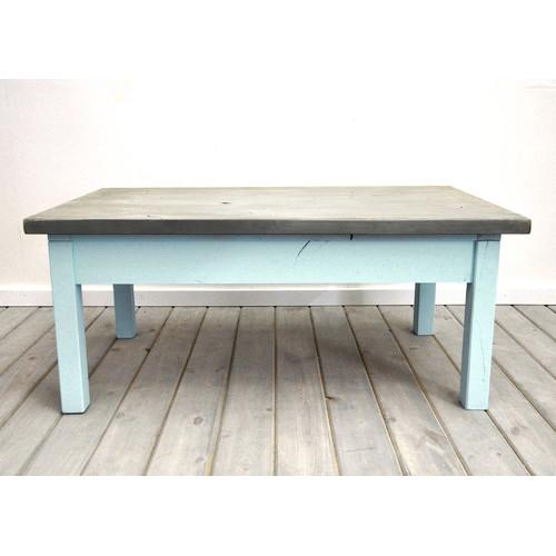 Dogberry Collections Coastal Silver And Blue Coffee Table