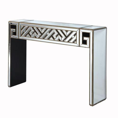 elegant console table. Elegant Lighting Modern Gold Leaf Console Table