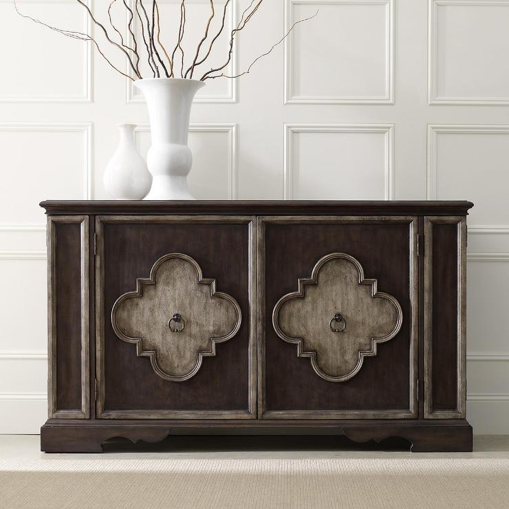 Hooker Furniture Brown Console Table