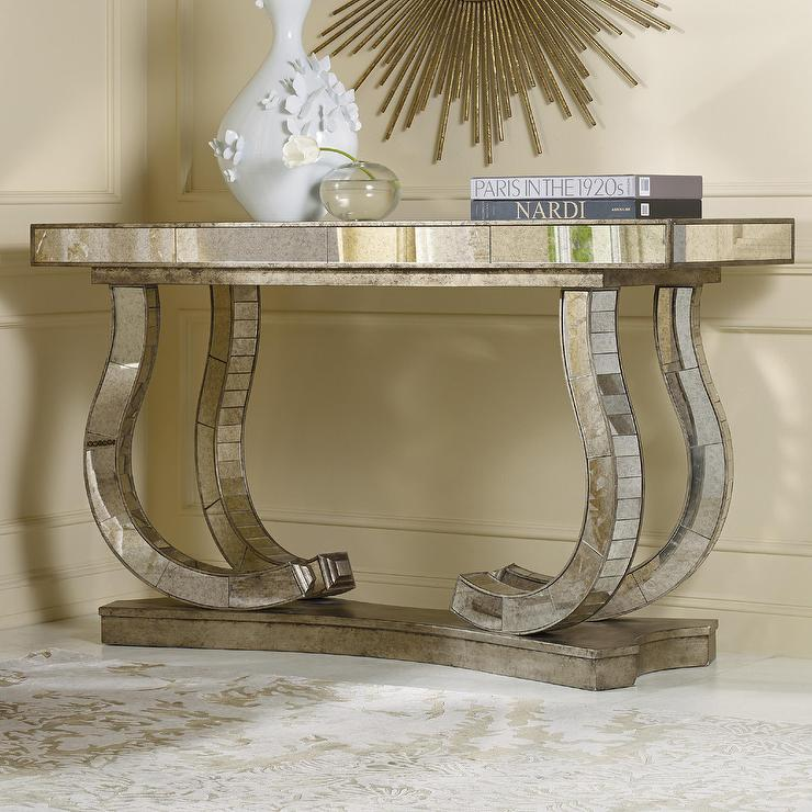 - Hooker Furniture Melange Antique Mirror Console Table