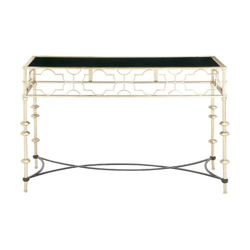Superior Woodland Imports Woodland Gold And Black Console Table