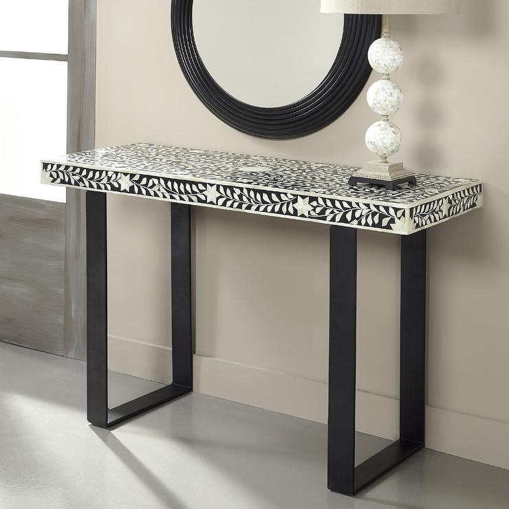 Coast To Coast Imports Black And White Console Table