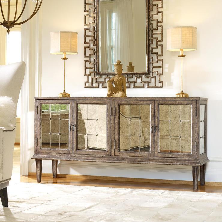 Hooker Furniture Melange Brown Console Table