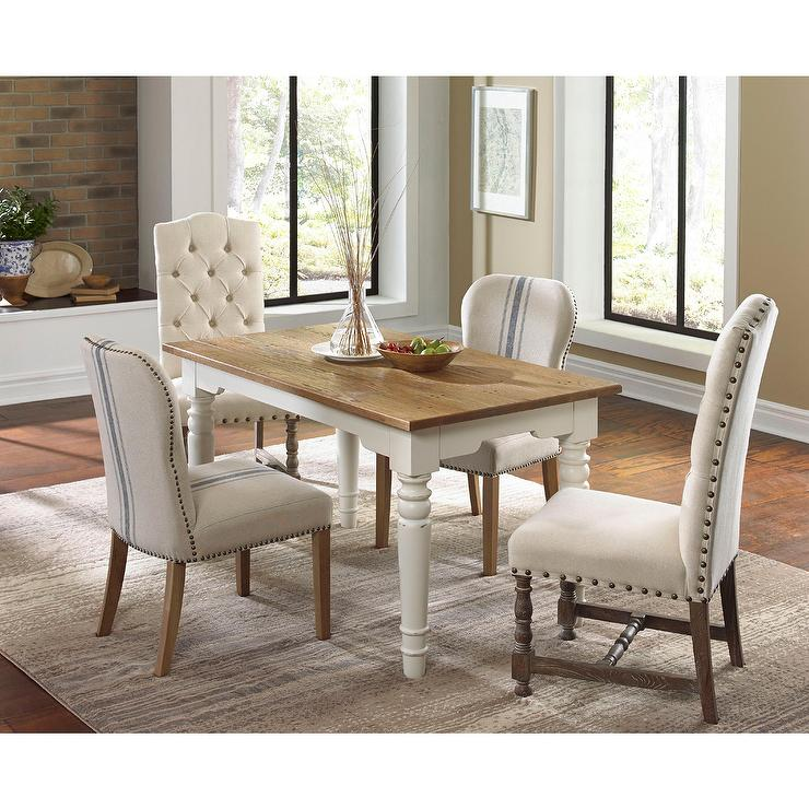 somette warrenton natural hand tufted dining room chair