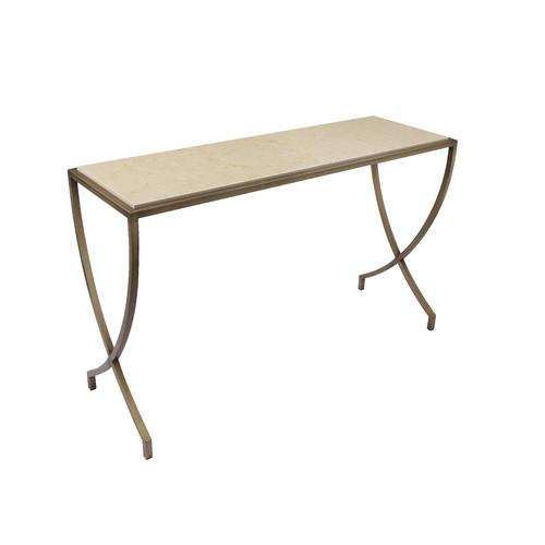 Pangea Home Steve Brass Console Table