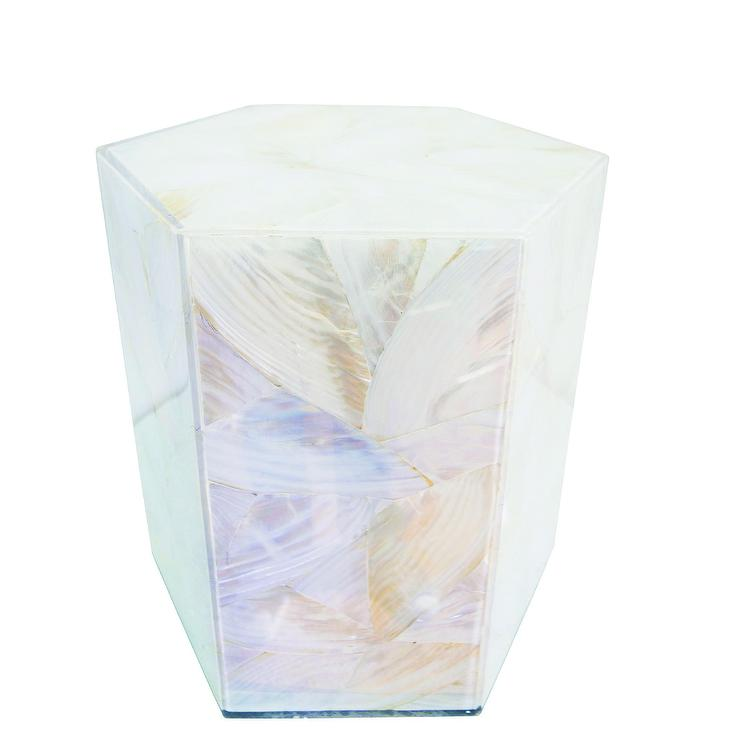 Mother Of Pearl Accent Lamp: Sanibel Hex Mother Of Pearl Accent Stool Design By Couture