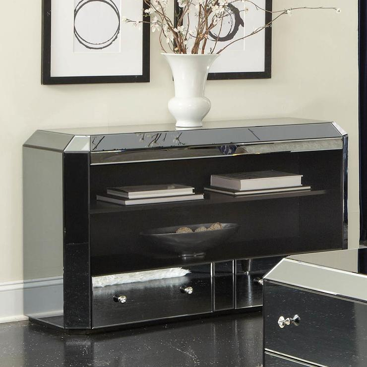 smoked mirrored furniture. Standard Furniture Smoked Mirage Console Table Mirrored L