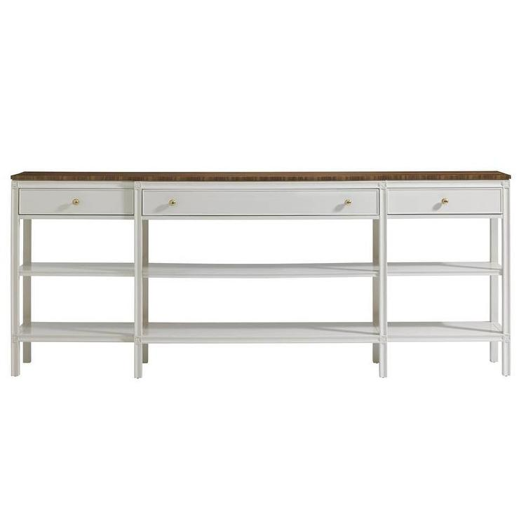 Stanley Charleston Regency White Console Table