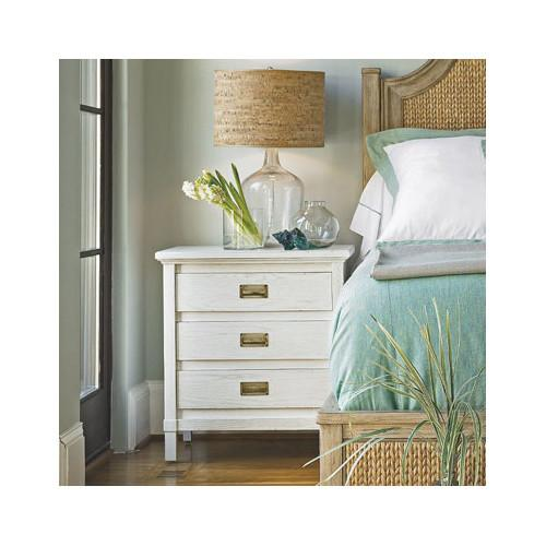 Living by Stanley Furniture Havens Harbor 3 Drawer White Nightstand