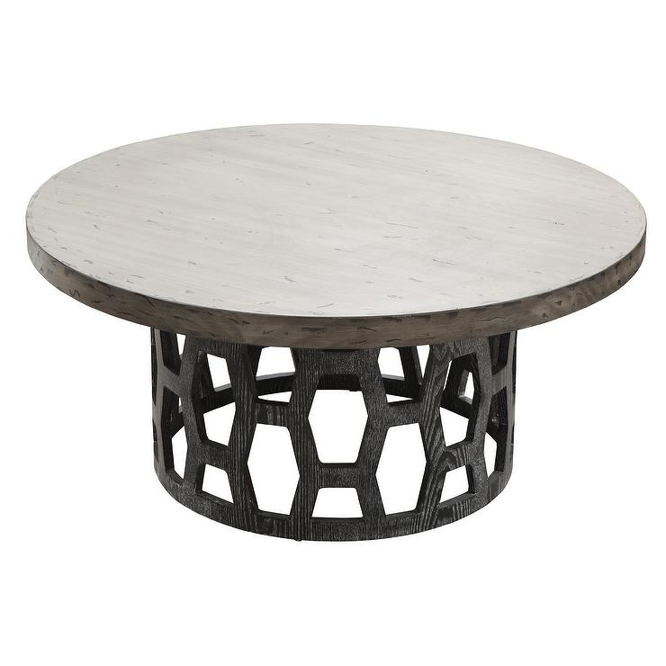 Grey Wood Coffee Table