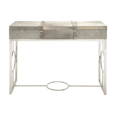 Awesome Woodland Imports Fancy Grey And Beige Console Table
