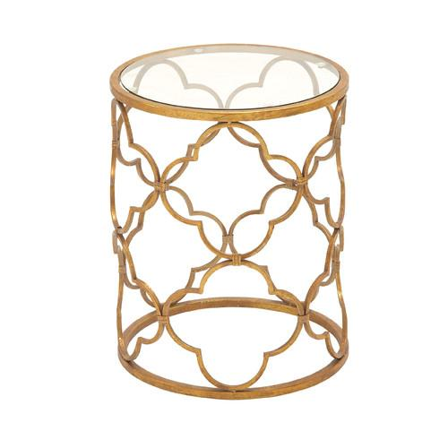 Woodland Imports Superb Gold End Table