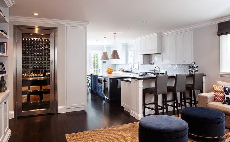 White And Blue Kitchen Cottage Kitchen Liz Carroll