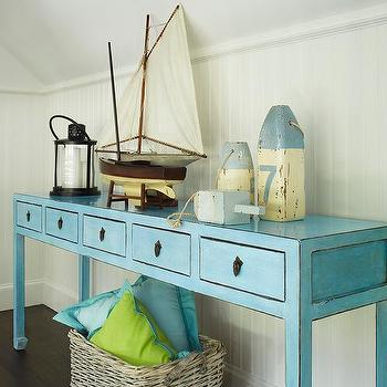 Turquoise Console Table