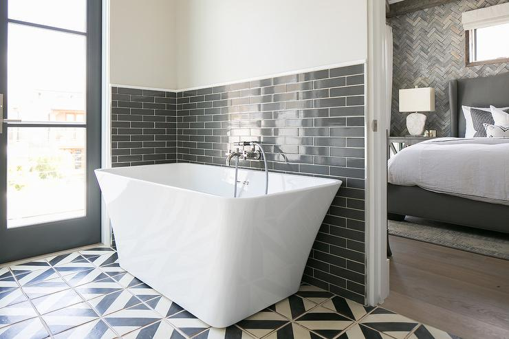 Charcoal Grey Bathroom Tiles