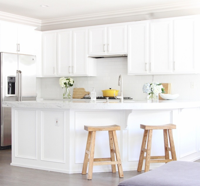 White And Gray Kitchen With Ikea Cabinets Contemporary