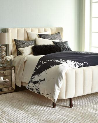 donna karan home midnight black and white bedding