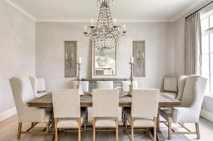 Grey French Dining Room - French - Dining Room