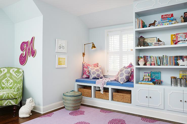 Window Seat Next To Bookcase