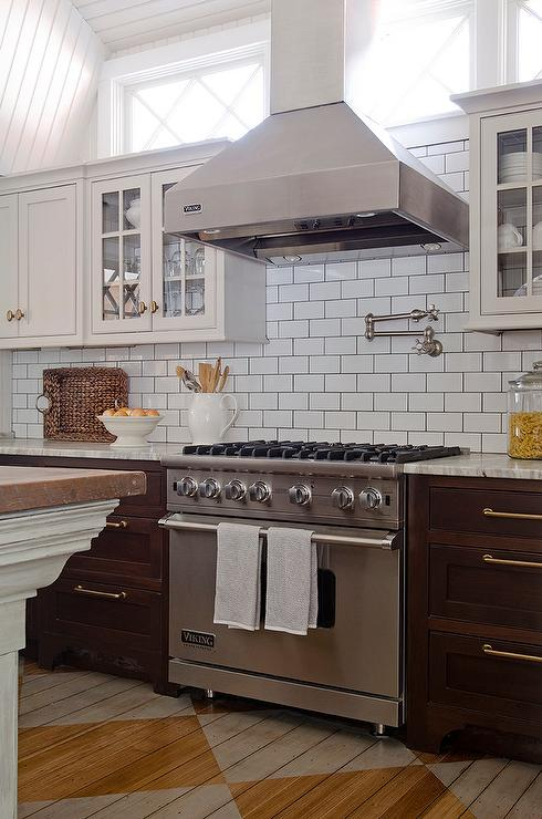 82505cb3b1b view full size. Beautiful kitchen features light grey upper cabinets and  dark ...