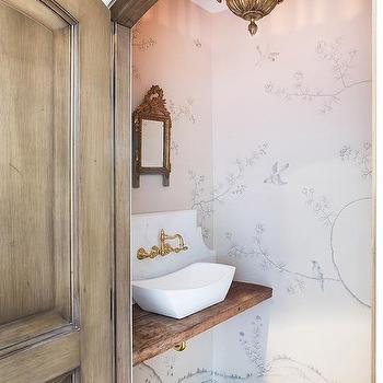 Interior design inspiration photos by lori henle interiors for Powder room door size