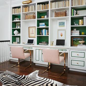 Zebra Bench Contemporary Den Library Office Benjamin
