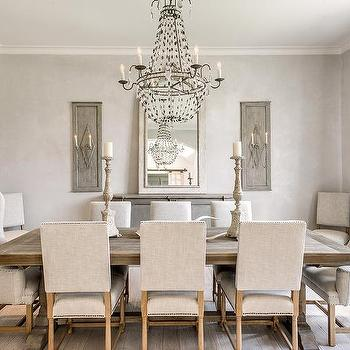 Grey French Dining Room