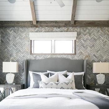 Gray Bedroom Wall Trim Design Ideas