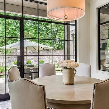 Drum dining room pendant design ideas camelback nailhead dining chairs aloadofball Gallery
