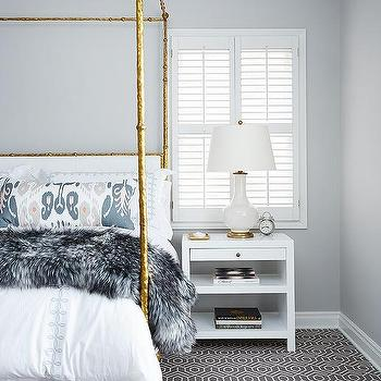 Gold and Gray Bedrooms