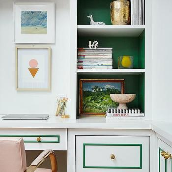 Back Of Bookshelf Painted Mint Green Design Ideas