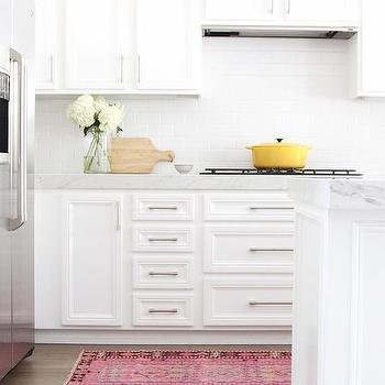 Kitchen With Pink Kilim Rug