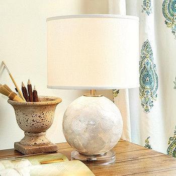 Capiz Ivory Table Lamp