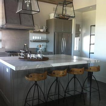 Grey Countertops Transitional Kitchen Artistic