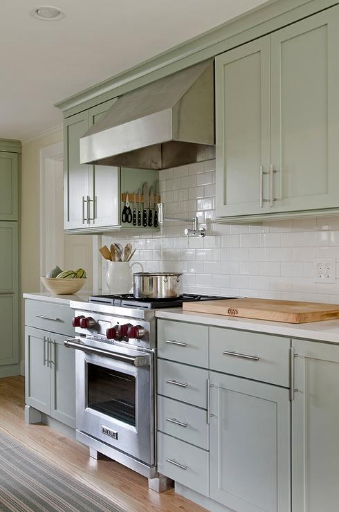sage green kitchen walls design ideas