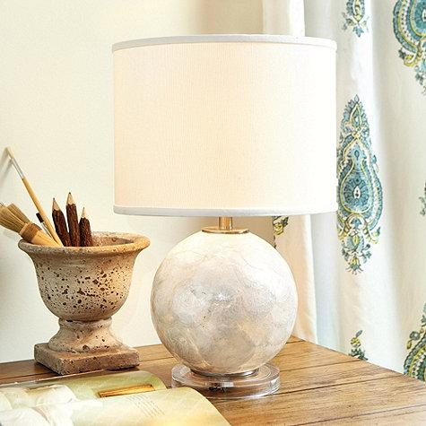 Capiz ivory table lamp aloadofball