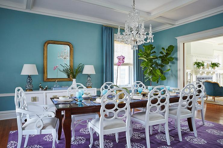 Turquoise and Purple Dining Rooms - Contemporary - Dining Room